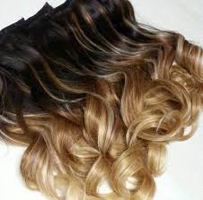 ombre extensions 16 inch wave clip in hair extensions beautiful three colors