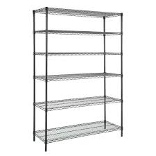 Metro Shelving Home Depot by Hdx 6 Tier 48 In X 18 In X 72 In Wire Shelving Unit In Black