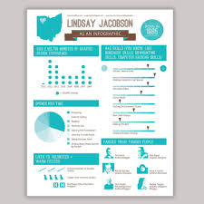 Infografic Resume Infographic Resume Design Custom Colors Available Set