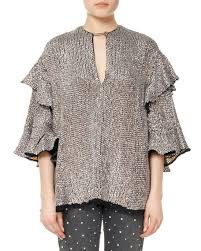 frilly blouse marant basile sequined viscose ruffle blouse neiman