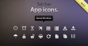Iphone 5 Top Bar Icons Tab Bar Icons Ios Vol5 Mobile Apps Icons Pixeden