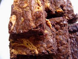 outrageous peanut butter swirl brownies smells like home
