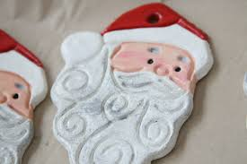 salt dough tree ornaments lights decoration