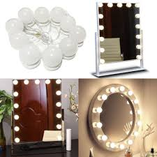 vanity makeup mirror with light bulbs led vanity makeup mirror light bulbs kit for dressing table with