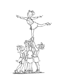 cheerleading coloring pages fablesfromthefriends com
