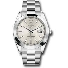 silver rolex bracelet images Rolex datejust ii steel and white gold black dial 41mm jpg
