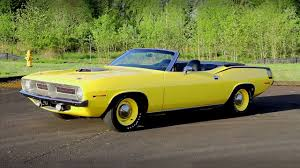 hemi powered lemon twist 1970 plymouth cuda convertible