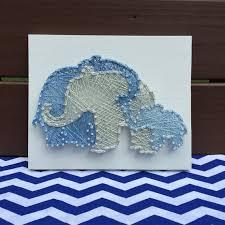 made to order baby elephant hugs nursery string art