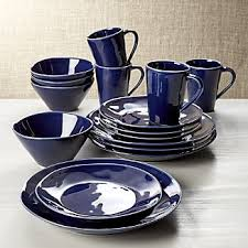 blue dinnerware crate and barrel