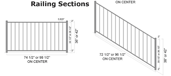 Irc Handrail Requirements Arabian Aluminum Railing Specifications Hoover Fence Company