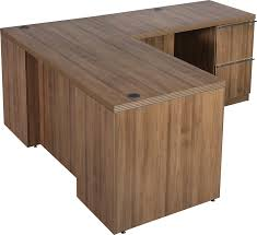 Office Desk Walnut New L Shape Office Desk Modern Walnut Series