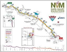 Virginia Wine Trail Map by Course Maps Napa Valley Marathon