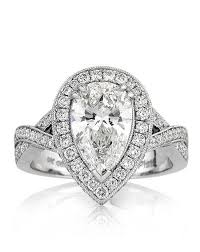 Engagement Ring With Wedding Band by Pear Shaped Engagement Ring Your General Guide Resolve40 Com