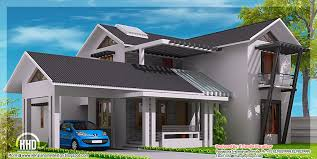 slope house plans modern mix sloping roof home design indian decor building sloped