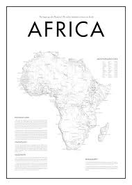 africa map black and white minimal africa map poster black white minimal print poster