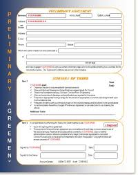 builders preliminary agreement deposit form building build help