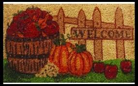thanksgiving doormat fall mat harvest time