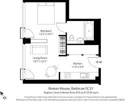 Roman Floor Plan by Studio Flat To Rent In Roman House Wood Street Barbican Ec2y