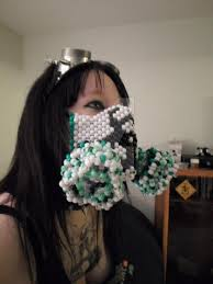 Kandi Mask Kandi Mask By Biohazardfox On Deviantart