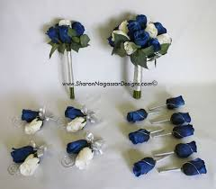 wedding flowers blue and white nagassar designs silk real touch custom wedding