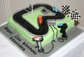 scalextric racing track birthday cake cakecentral com