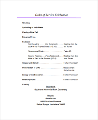 sample funeral program format template 6 free documents