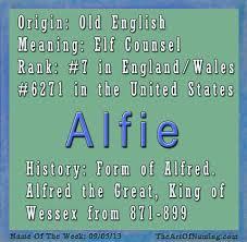 mean names the art of naming boy name of the week alfie