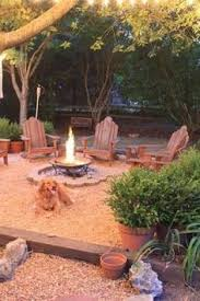 Landscaping Backyard Ideas Build Round Firepit Area For Summer Nights Relaxing Summer