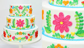 Embroidery WEDDING CAKE Decorating CAKE STYLE