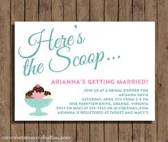 ice cream bridal shower invitation here u0027s the scoop
