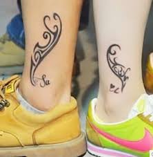 beautiful tribal couples tattoos design idea for and