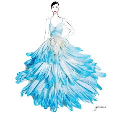 the well appointed catwalk flower petal fashion illustrations by