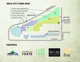 Map Cleveland Ohio by Ohio City Farm Ohiocityfarm