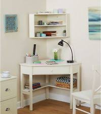 white corner desk with hutch white wooden computer table