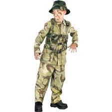 soldier costumes for men women kids parties costume