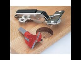 kitchen cabinet door hinge drill bit using 35 mm forstner bit with a portable drill boring wood for concealed hinge