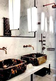 Gold Bathroom Ideas Rustic Gold Sink Faucet With White Marble Counter For