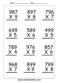 easy multiplication problems subtraction facts worksheets ratios