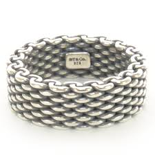silver rings tiffany images Tiffany co oxidized sterling silver mesh somerset ring 5 75 36441 jpg