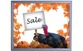 thanksgiving week sale and hours
