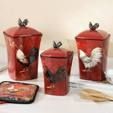 rooster canisters kitchen products 78 20 ilovedinnerware avignon rooster canister set 3 by susan