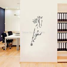 online get cheap horse gallop vinyl decal aliexpress com galloping horse animal wall sticker vinyl murals decorative decal for living room bedroom or office decor