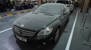 this mercedes benz cl550 looks abandoned in dubai autoevolution