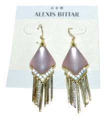 dangler earrings bittar grey lucite kite fringe dangler earrings