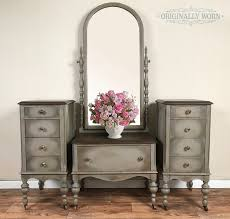 painted in annie sloan chalk paint it is french linen with a halo