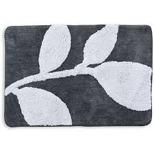 Black And White Bathroom Rug by Better Homes And Gardens Tranquil Leaves Bath Rug 20