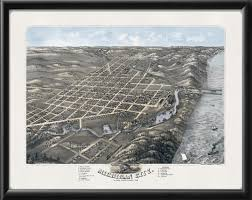 Map Of Michigan City Indiana by Michigan City In 1869 Vintage City Maps Restored City Maps