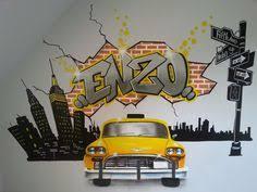 peinture graffiti décoration personnalisé chambre d enfant graff