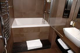 bathroom small soaking tub with shower combo design idea for