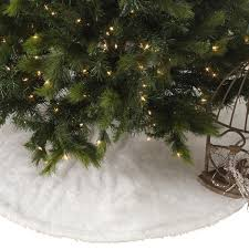 noel blanc faux fur design white tree skirt